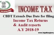 CBDT Further Extends Due Date for filing of Income Tax Returns & audit reports || Extends Due Date for filing of Audited Income Tax return