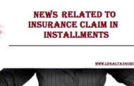 The amount of insurance claim that can be taken in installments or in a lump sum ||Insurance claim in installments